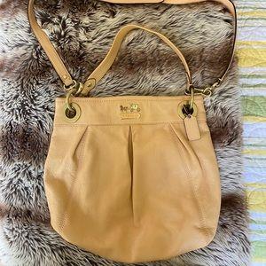 Coach apricot leather satchel